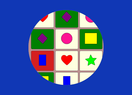 matching shapes game screenshot