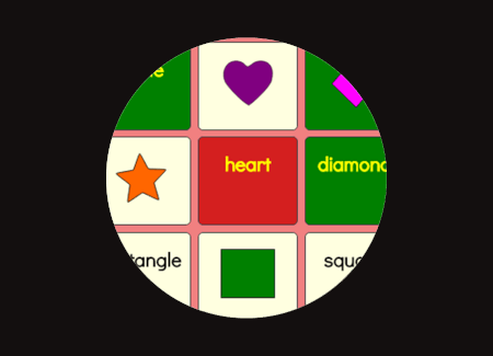 matching shapes to names game screenshot